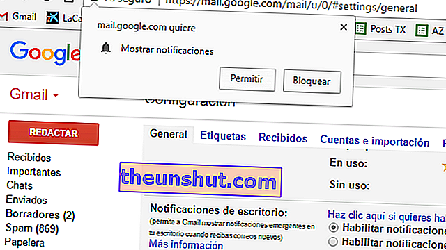 notifiche di Gmail