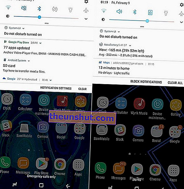 Le differenze tra Android 8 e Android 7 in un Samsung Galaxy S8 4