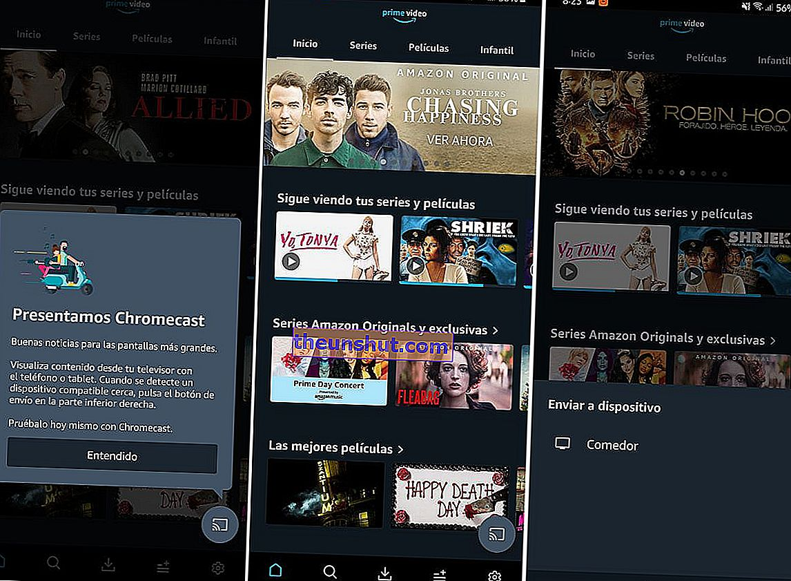amazon prime video chromecast