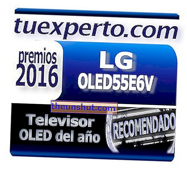 LG 55E6V Seal Awards OneExpert 2016